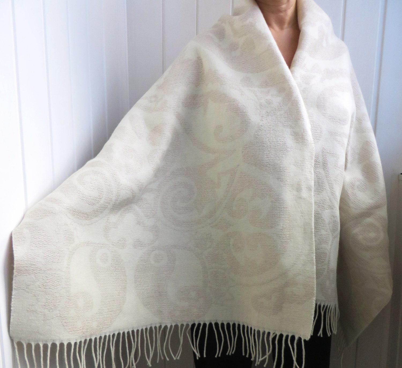 WINTER BRAIDESMAID Schals Wolle Leinen Oversized Schal Winter