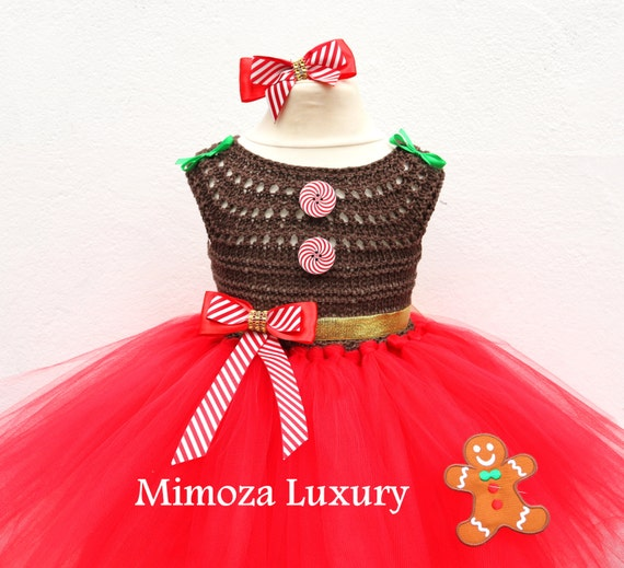 Christmas dress outfit, Gingerbread dress, Gingerbread Christmas  princess tutu costume, gingerbread birthday tutu dress, gingerbread outfit