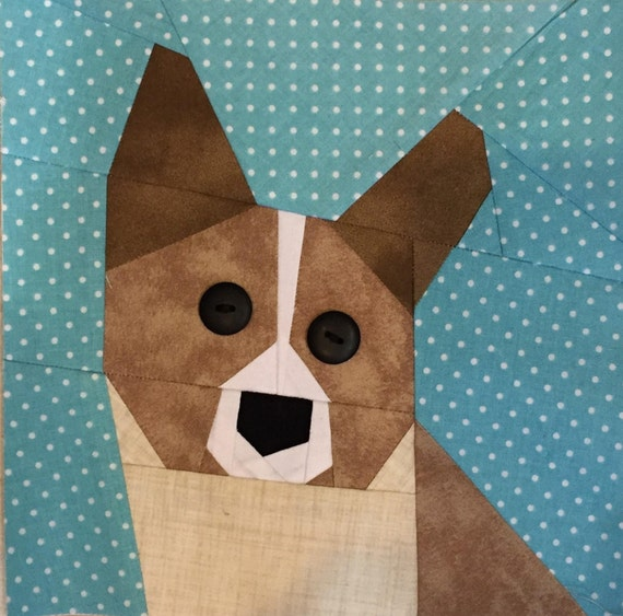 Corgi Paper Pieced Block Pattern In Pdf