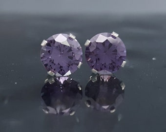 Alexandrite Silver Earrings Studs Color Change Birthday Gift Anniversary Wedding Bridal Jewelry Post June Birthstone Sterling Engagement E38