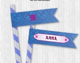 Anna Straw Flags