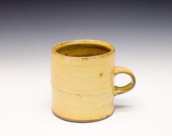 Salt Fired High-Iron Stoneware Mug - Yellow Glaze, 0425004