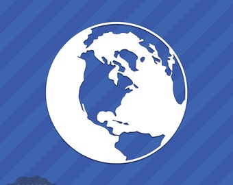 Planet Earth World Globe Vinyl Decal Sticker
