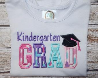 KINDERGARTEN Shirt; K-5 Shirt, Girl Kindergarten; Girl K-5 shirt