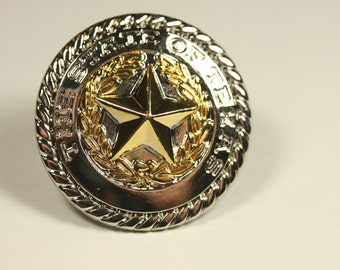 The State Of Texas Knob - Two Tone