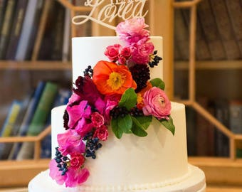 90th Cake Topper, 90 Years Loved Cake, Birthday Cake Topper, Gold Cake Topper, Silver Cake Topper, Rose Gold Cake Topper, Wooden Cake Topper