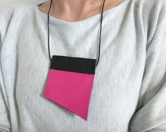 SALE 3 way geometric panel necklace, unisex bow tie alternative, statement collar necklace, bold necklace, shirt accessory, office accessory