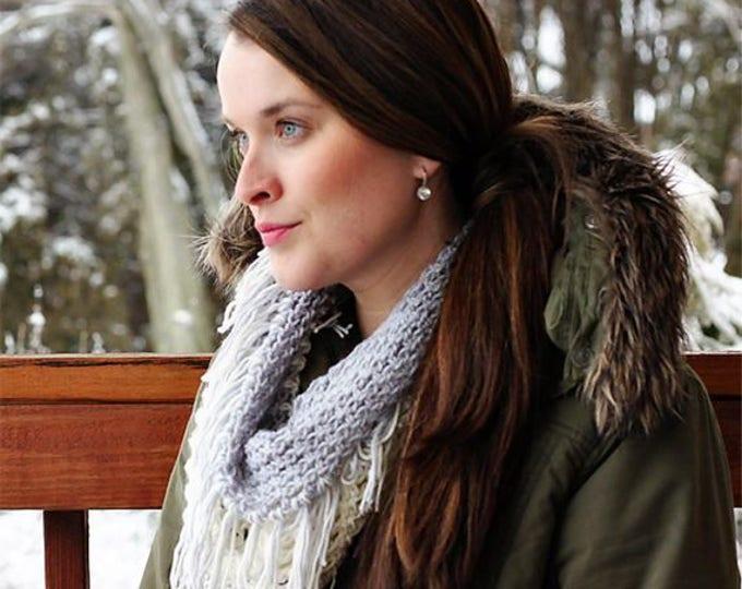 PDF Crochet Pattern - Gracelyn Fringe Winter Scarf
