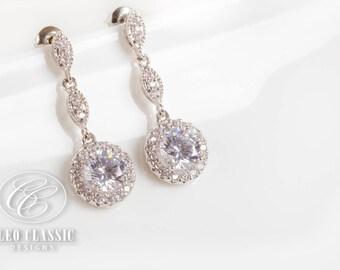 Bridal  Earrings   Bridesmaid Gifts   Bridal Jewelry   Bridesmaid Jewelry    Wedding Jewelry   Dangle Earrings   Bridesmaid Earrings