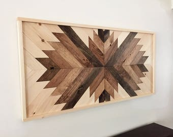 Reclaimed wood wall art, rustic wall art, wood wall hanging, wood art, rustic home decor, farmhouse decor