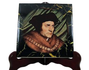 St Thomas More - catholic saints - catholic icon on ceramic tile - Saint Thomas More - patron saint lawyers - gift for lawyer religious gift
