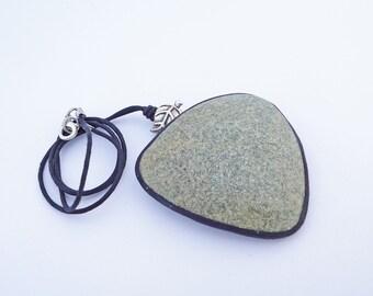 Polymer clay necklace granite imitation- handmade unique necklace- false granite necklace- unique pieces in polymer clay- granite necklace.