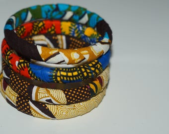 Assorted African print bangles