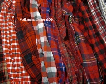 Vintage Women's Flannel Shirts For Wedding Getting Ready Boyfriend Style Oversized Comfort Hipster Grunge Streetwear Look Sizes XS S M L XL