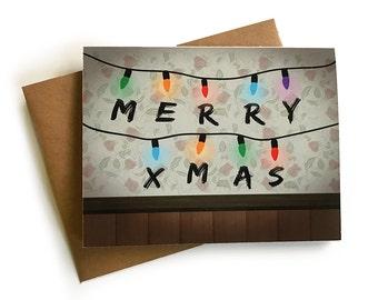 Stranger Things Christmas Card, Holiday Card