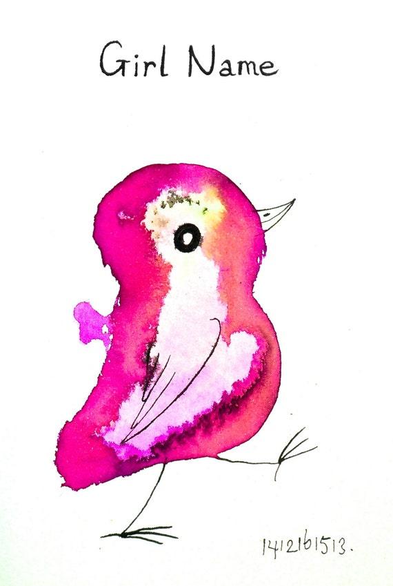 Kraamcadeau met naam meisje kinderkamer deco originele - Deco slaapkamer meisje roze ...