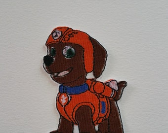 Zuma Paw Patrol iron on or sew on patch Zuma dog applique Zuma dog patch Paw Patrol applique Paw Patrol patch Kids patch Cartoon patch