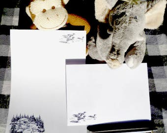 Old Mill Stationery Set - Babbling Brook Writing Paper with matching envelopes - Letter writing set - Ducks Stationery - Quirky present
