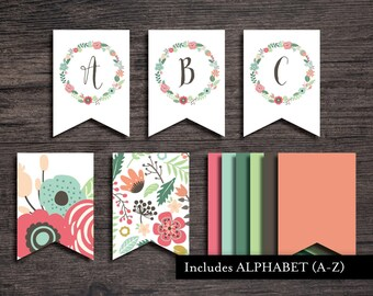 Umbrella Banner Printable | Banner | Umbrella Banner | Flower Banner | Umbrella Banner | Shower Banner | Party Banner | Printable Banner