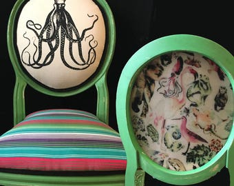 Green Octopus Desk Chair With Resin