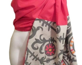 Ring sling blossom, Linen Pink, Ring sling for baby, Sling in linen, baby carrier, baby wrap