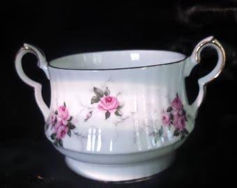 Open Sugar Bowl by Princess House© ~ Windsor Rose Pattern