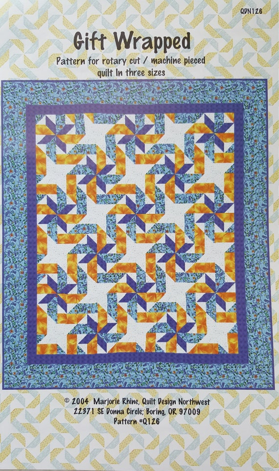 Quilt Pattern Quot Gift Wrapped Quot 2004 By Marjorie Rhine