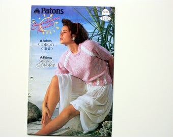 Patons 639 - Sunshine Knits -  Ladies Spring Sweaters,  Ladies Summer Sweaters, Ladies Cotton Sweaters