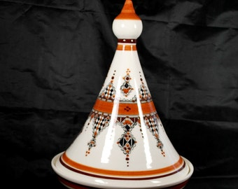Moroccan Tajine - Tagine made in ceramic , Covered Casserole , Serving Dish