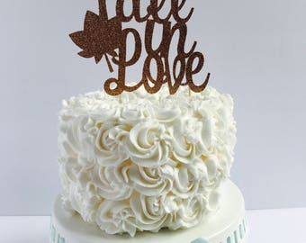 Fall in Love cake topper/ fall Bridal Shower/ bridal Shower cake topper/ engagement party/ fall wedding