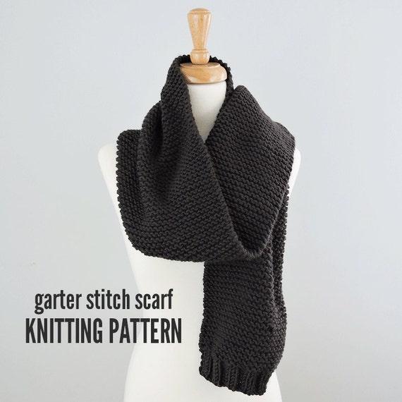 Knitting Garter Stitch Scarf : Garter stitch scarf pattern easy knitted