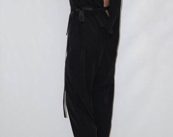 Black Womens Jumpsuit/Bodysuit/ Romper /Overalls/Fashion Pants/Black Jumpsuit/F1247