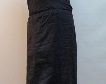 Summer Dress/Long Linen Dress/ Long Casual Dress/Black Linen Dress/ Beach Dress/Dress with Naked Back/Hooded Dress/F1440