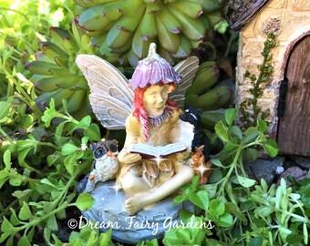Fairy Garden Fairy, Mini Animal Fairy, Small Fairy, Mini Fairy, Fairy  Reading