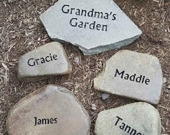Mothers; GRANDMA'S GARDEN stone set, unique gift for mom or dad