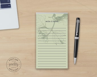 Write it Down Floral Notepad - 100 Page Medium Note Pad
