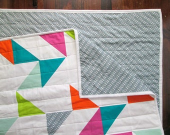 The Confetti Quilt: Birthday Party | Modern Triangle Quilt