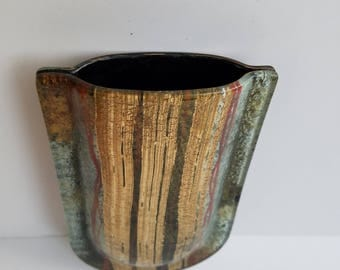 Multi-Colored Sandwiched Glass Pocket Vase - No Stand