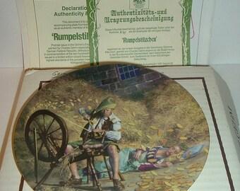 1981 Konigszelt Bayern Grimms Fairy Tales 1st Issue Rumpelstilzchen Plate w COA and Box