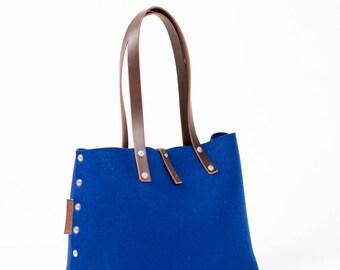 Felt Shoulder Bag, Felt Handbag; Blue Bags & Purses, Shoulder Bags, Handbags, Felt Shoulder Bag