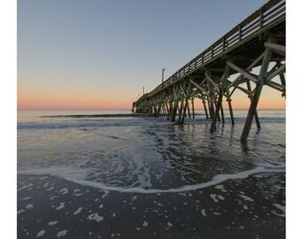 Surfside Beach, Pier Photography, Sunrise Photography, Beach Sunrise, Beach Photography, South Carolina, Beach Art, Inkjet Print