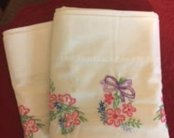 Embroidered Pillow Cases (2)