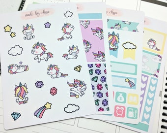 Unicorn Mini Kit // Limited Edition! // Premium Matte Planner Stickers