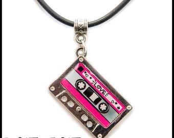 Musicassette Pendant Necklace Vintage Music Cassette Tape Memorabilia