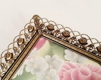5x7 Picture Frame, Gold Frame 5x7, Ornate Metal Frame, Vintage Picture Frame
