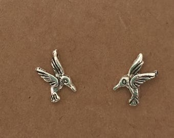Sterling Silver Bird Stud Earrings | Hummingbird | Sterling Silver | Bird | Silver Earrings | Stud Earrings | Boho | Kids Earrimgs