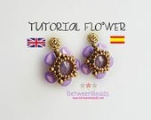 Flower Schema, Rose Petals, Tutorial Beadwork Earrings Pattern Beadweaving Earrings, Jewelry, Spanish English, Beads, Seed Beads Schema