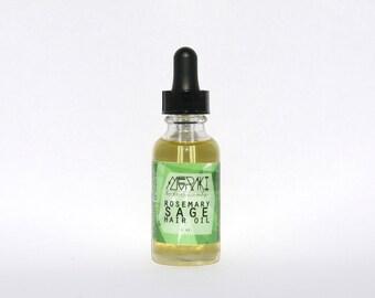 rosemary sage hair oil \ 1 oz. \ hair oil \  natural hair products for hair growth \ hair serum \ natural hair care