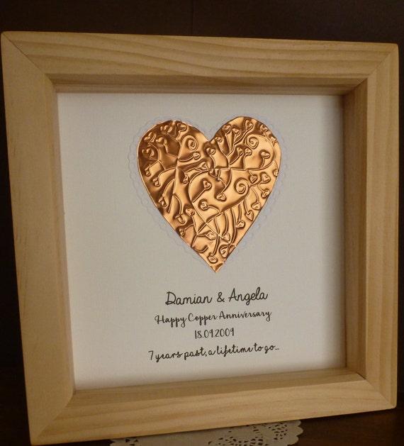 22nd Wedding Anniversary Gift Ideas: 7th Wedding Anniversary Gift Copper Anniversary Gift 7th