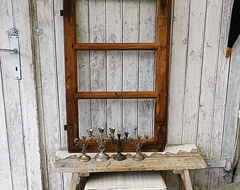 old window frame with glass 30s
